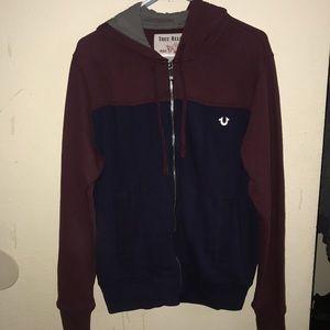 True religion mono-tone hoodie